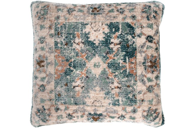 Accent Pillow-Sienna And Jade Traditional Pattern 21X21 - 360