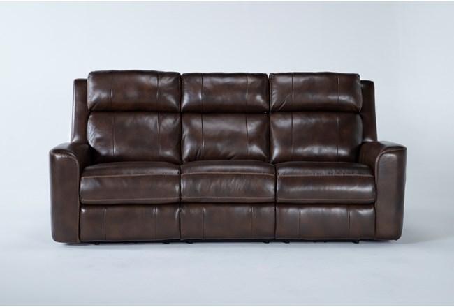 "Stetson Leather 87"" Power Reclining Sofa With Power Headrest & Lumbar - 360"