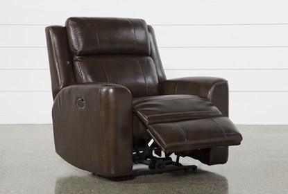 Super Stetson Leather Power Reclining Chair With Power Headrest Lumbar Creativecarmelina Interior Chair Design Creativecarmelinacom
