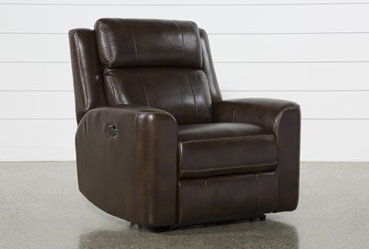 Fantastic Stetson Leather Power Reclining Chair With Power Headrest Lumbar Caraccident5 Cool Chair Designs And Ideas Caraccident5Info