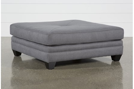 Mesa II Charcoal Square Cocktail Ottoman