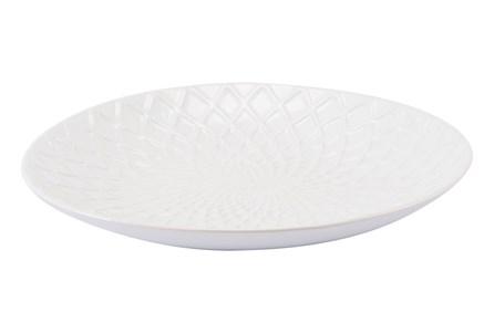 White Peacock Bowl