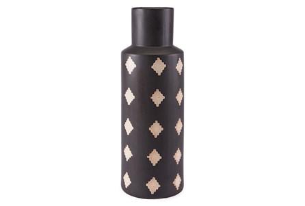 Large Black + Beige Bottle