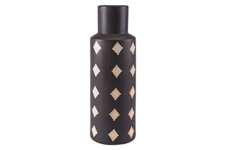 Large Black + Beige Bottle - Main