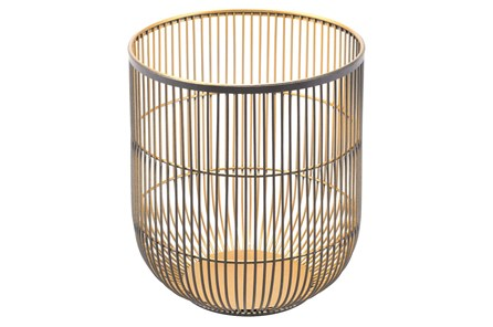 Black And Gold Small Candle Holder - Main