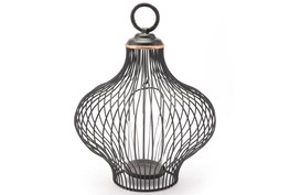 Small Black Wire Lantern