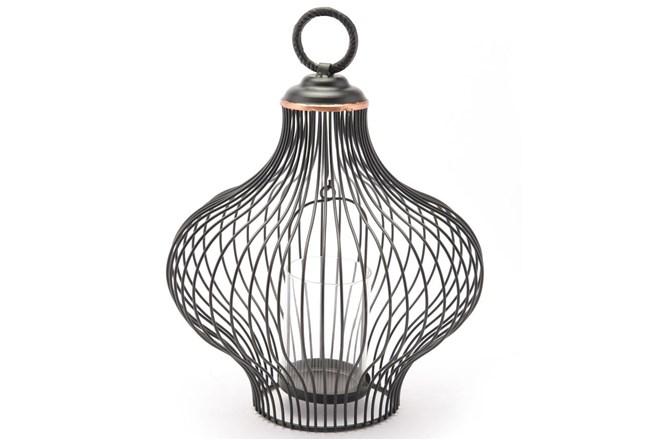 Small Black Wire Lantern  - 360