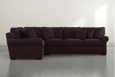 """Aurora II Purple 2 Piece 137"""" Sectional With Right Arm Facing Sofa"""