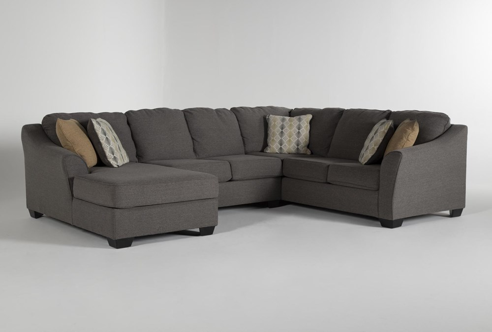 "Fenton 3 Piece 130"" Sectional With Left Facing Corner Chaise"