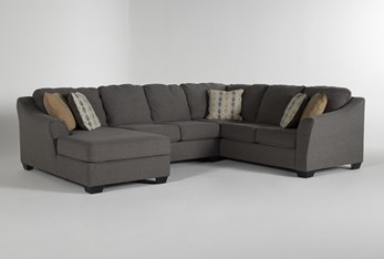 """Fenton 3 Piece 130"""" Sectional With Left Facing Corner Chaise"""