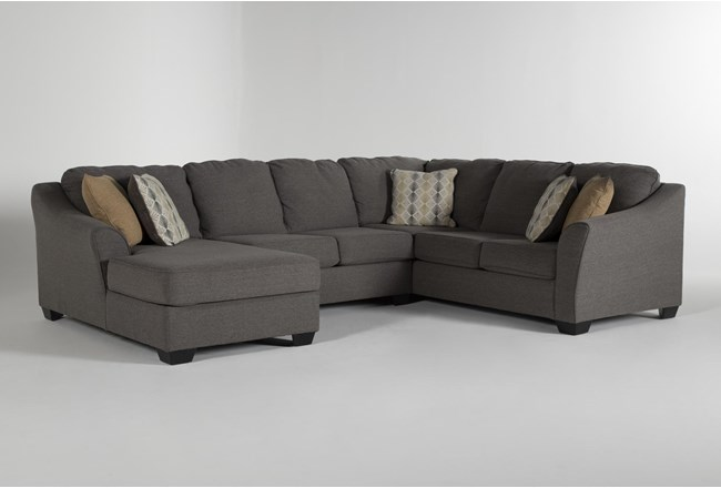 "Fenton 3 Piece 130"" Sectional With Left Facing Corner Chaise - 360"