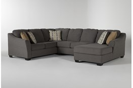 "Fenton 3 Piece 130"" Sectional With Right Facing Corner Chaise"