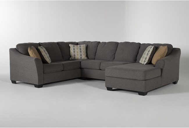 Fenton 3 Piece Sectional With Right Facing Corner Chaise - 360