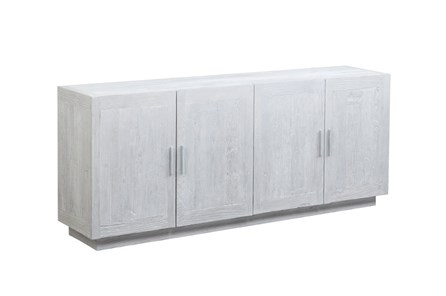 4 Door White Wash Sideboard