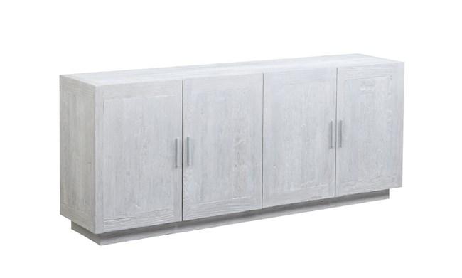 4 Door White Wash Sideboard - 360