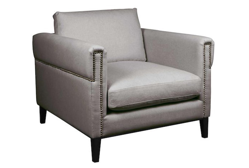 Nailhead Slate Grey Chair