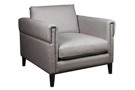 Nailhead Slate Grey Chair