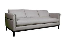 Nailhead Slate Grey Sofa