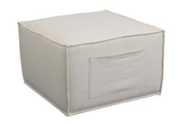Natural Ottoman With Sleeve