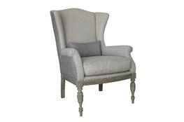 Blue Pinstripe Accent Chair