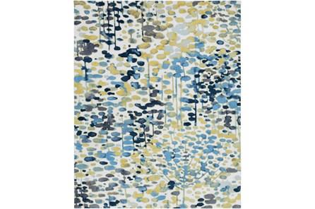 90X114 Rug-Fields Blue/Yellow