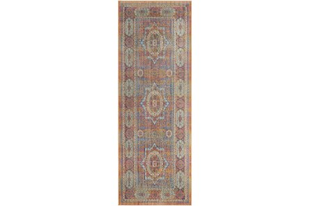 35X94 Rug-Gypsy Star Saffron/Blue