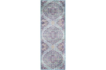 35X94 Rug-Odette Medallion Purple/Teal