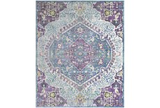 108X157 Rug-Odette Medallion Purple/Teal