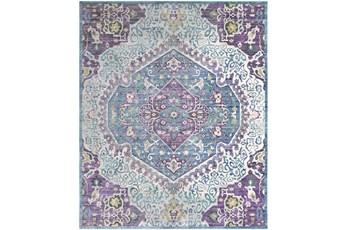 108X157 Rug-Odette Medallion Purple/Teal