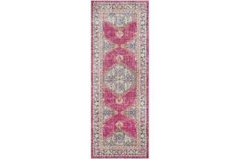 35X94 Rug-Mckenna Bright Pink