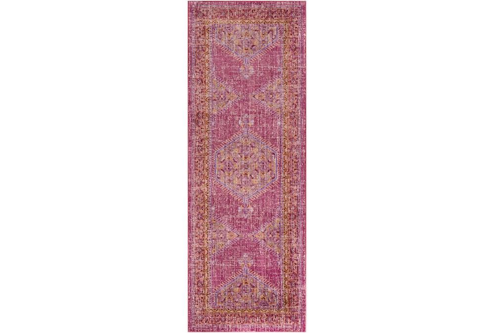 35X94 Rug-Mckenna Bright Pink/Orange