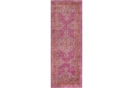 35X94 Rug-Mckenna Bright Pink/Orange