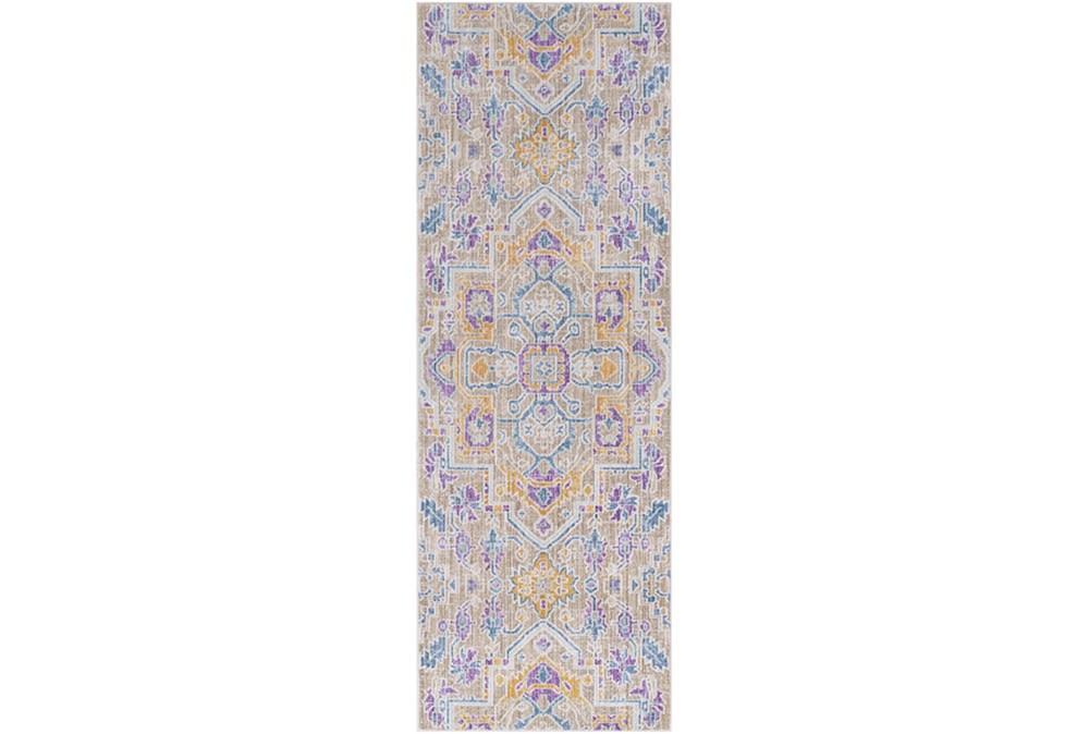35X94 Rug-Gypsy Purple/Blue/Yellow