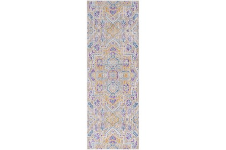 35X94 Rug-Gypsy Purple/Blue/Yellow