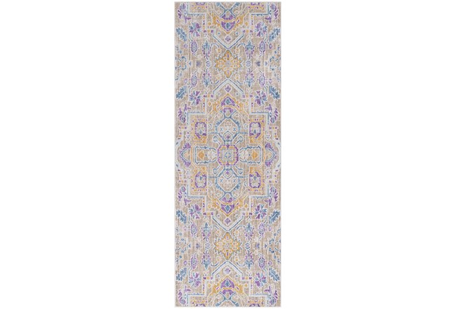 35X94 Rug-Gypsy Purple/Blue/Yellow - 360