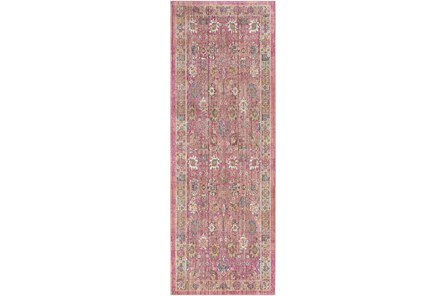35X94 Rug-Gypsy Border Bright Pink