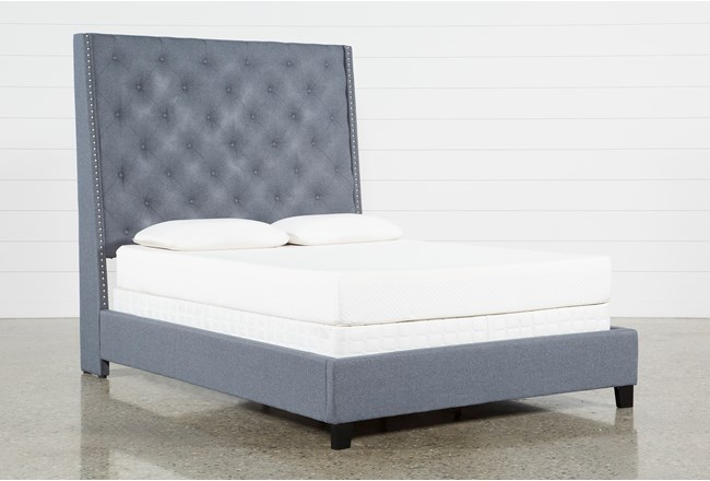 Gabriel Queen Upholstered Panel Bed - 360