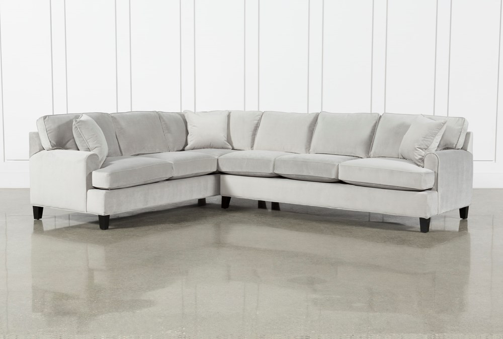 Donaver Ii Velvet 2 Piece 125 Sectional With Right Arm Facing Sofa Living Spaces