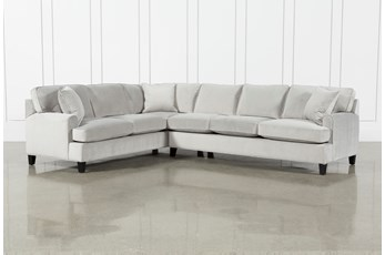 "Donaver II Velvet 2 Piece 125"" Sectional With Right Arm Facing Sofa"