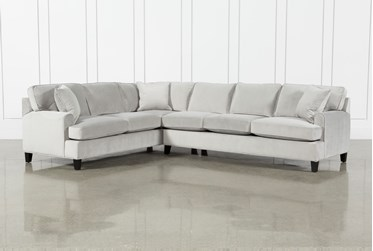 """Donaver II Velvet 2 Piece 125"""" Sectional With Right Arm Facing Sofa"""