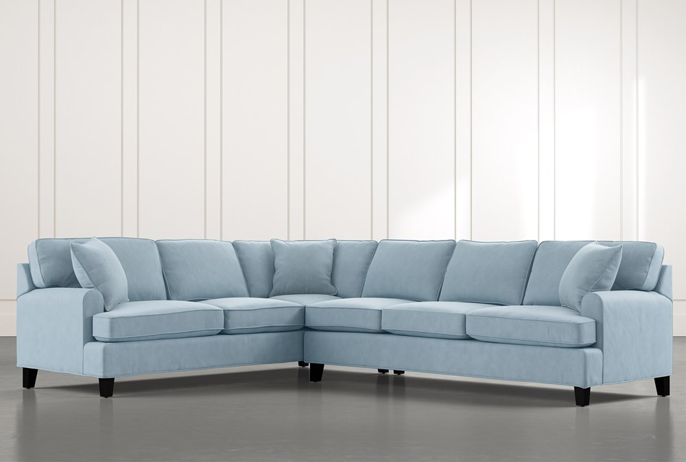 Donaver Blue 2 Piece Sectional