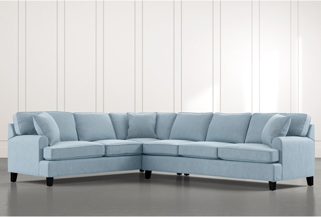 Donaver Blue 2 Piece Sectional - 360