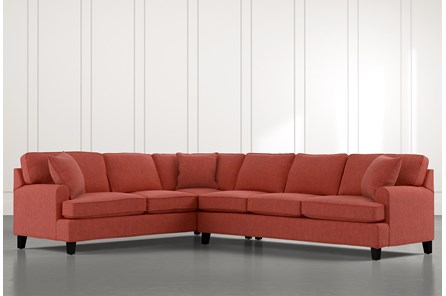 Donaver Red 2 Piece Sectional