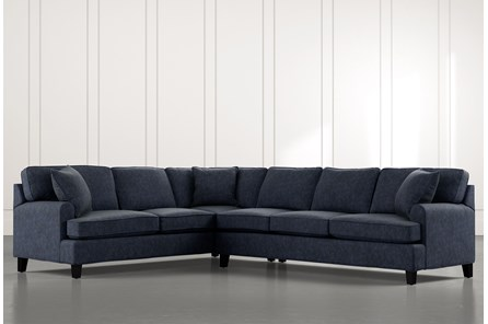 Donaver Navy Blue 2 Piece Sectional