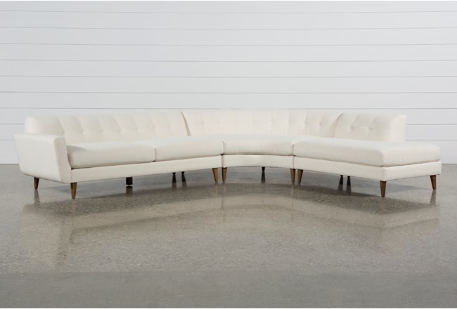 Chill II 3 Piece Sectional With Right Facing Bumper Chaise - 360