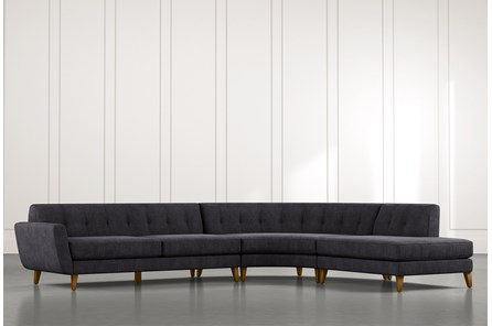 Chill II Black Sectional