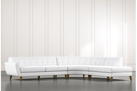 Chill II White Sectional