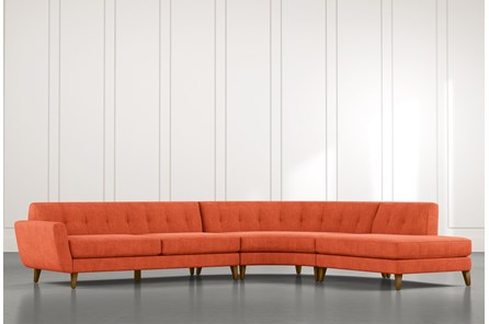 Chill II Orange Sectional
