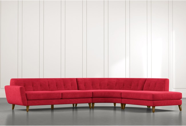 Chill II Red Sectional - 360