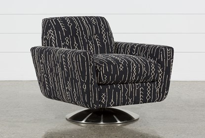 Astounding Chill Ii Swivel Accent Chair With Metal Base Andrewgaddart Wooden Chair Designs For Living Room Andrewgaddartcom